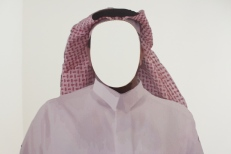 Saudi man cutout