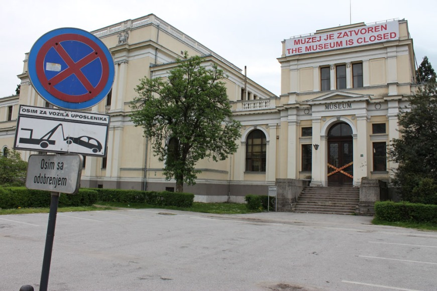 Bosnia National Museum closed