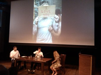 Stephen Mayes, James Brabazon and Max Houghton talking about Time Hetherington at de Balie, Amsterdam