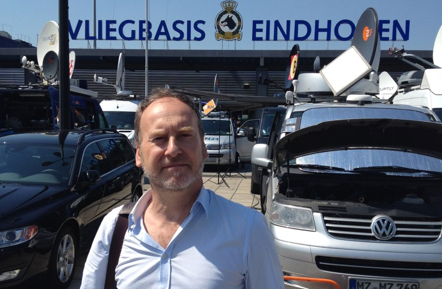 Eindhoven air base - return of victims of flight MH17