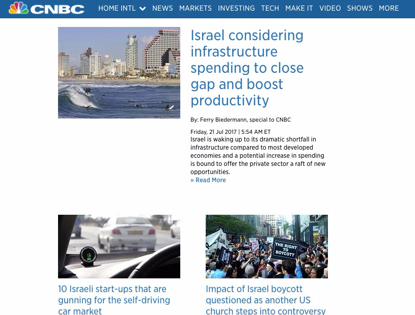 Ferry Biedermann's CNBC - Investing in Israel
